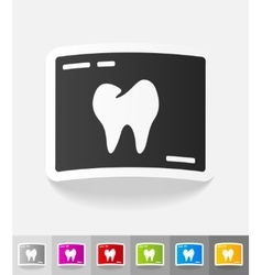 Realistic design element picture tooth vector