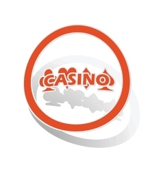 Casino sign sticker orange vector