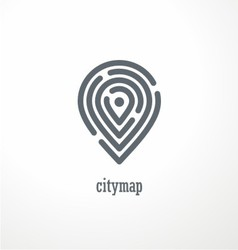 City map creative symbol concept vector image