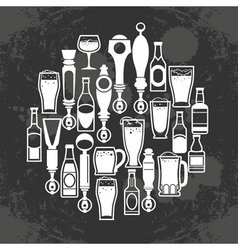 Beer taps icons vector