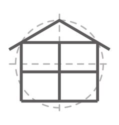 Floor plan isolated icon design vector