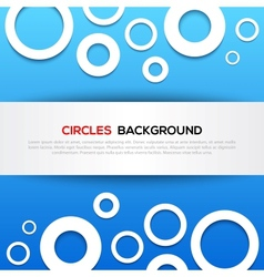 Abstract 3D blue circles background vector image vector image