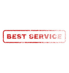 best service rubber stamp vector image vector image