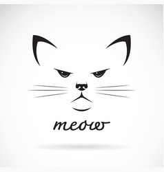 cat face design on white background pet animal vector image vector image