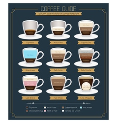 Coffee Guide Diagram vector image vector image