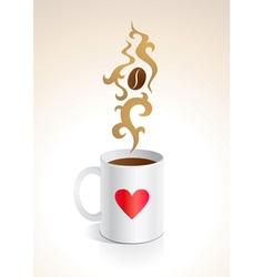 coffee mug vector image