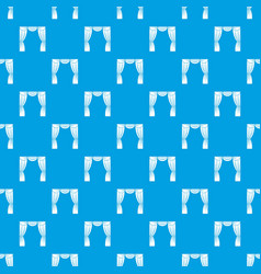Curtain on stage pattern seamless blue vector