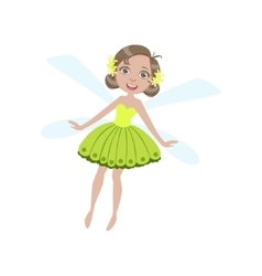 Cute Fairy With Dragonfly Wings Girly Cartoon vector image