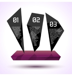 Dark glossy trendy infographic design with vector