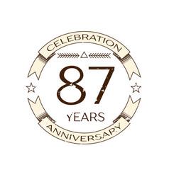 eighty seven years anniversary celebration logo vector image vector image