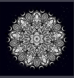 flower mandala vintage decorative element vector image