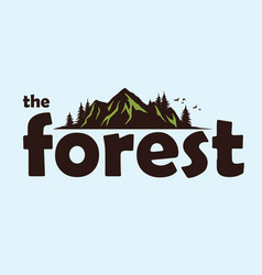 forest mountain adventure logo template vector image vector image