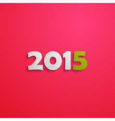 Happy new 2015 year creative poster design holiday vector image