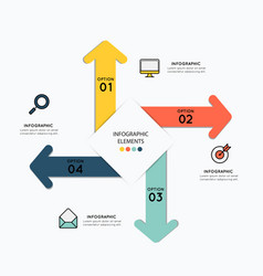 Infographic elements with icons for business vector