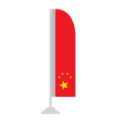 isolated chinese flag vector image