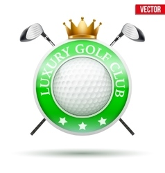 Label of luxury golf clubs vector