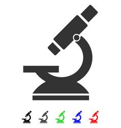 Microscope flat icon vector