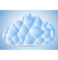 Mosaic cloud vector image