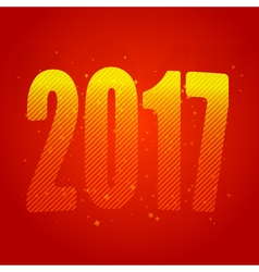 New Year 2017 Year of the Rooster Figures vector image