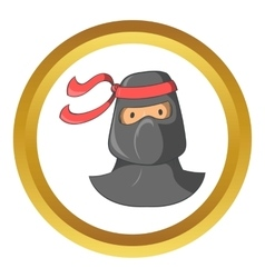 Ninja mascot icon cartoon style vector