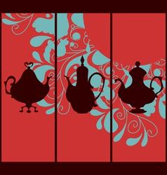 Oriental coffepots vector