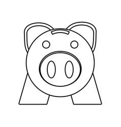 Piggy money saving vector