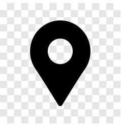 pin location icon - iconic design vector image