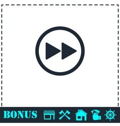 Rewinding icon flat vector image