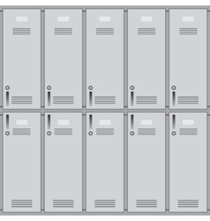 School or changing room lockers vector image