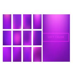 Set of soft purple gradients background vector