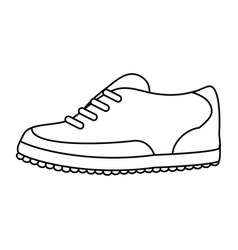 Shoes golf related icon image vector
