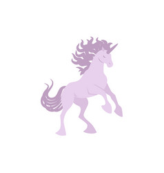 silhouette unicorn image vector image vector image