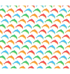 Summer pattern with dolphins isolated on white vector image vector image