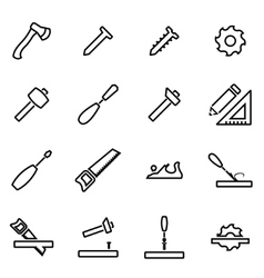 Thin line icons - carpentry vector