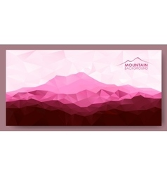 Triangle geometrical background with red mountains vector image vector image