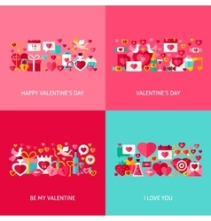 Valentine day greeting set vector