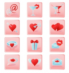 valentines icons2 vector image