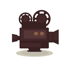vintage filming camera isolated on white eternal vector image vector image