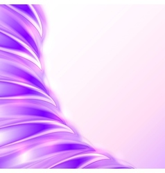 Violet abstract shining wave background vector image
