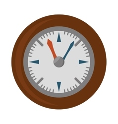 wall clock retro isolated icon vector image