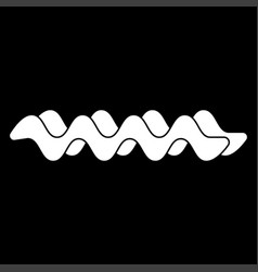 wave the white color icon vector image
