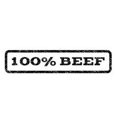 100 percent beef watermark stamp vector