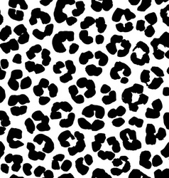 Leopard print seamless background pattern black vector