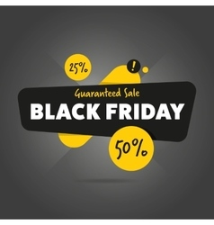 Black friday sale sticker isolated vector