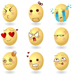 Eggs emotions set1 vector