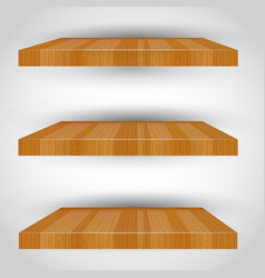 Three-dimensional isolated empty shelf vector