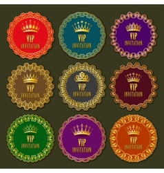 Decorative ornate golden frames vector