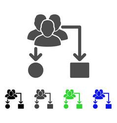User routing scheme flat icon vector