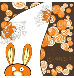 rabbit card vector image
