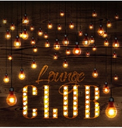 Lounge club glowing lights vector image
